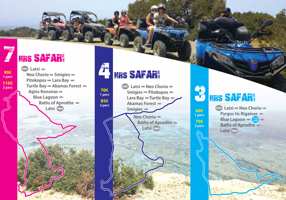 Our 3 safari trails prices - STS MOTO FUN - Latchi